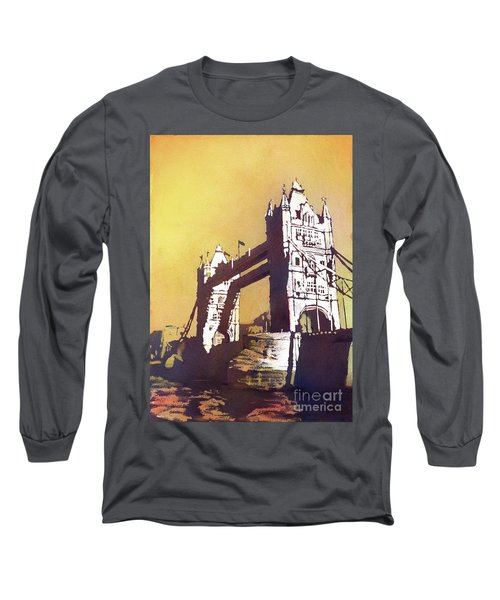 Long Sleeve T-Shirt featuring the painting London Bridge- Uk by Ryan Fox