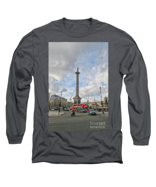 London Bus And Lord Nelson Long Sleeve T-Shirt