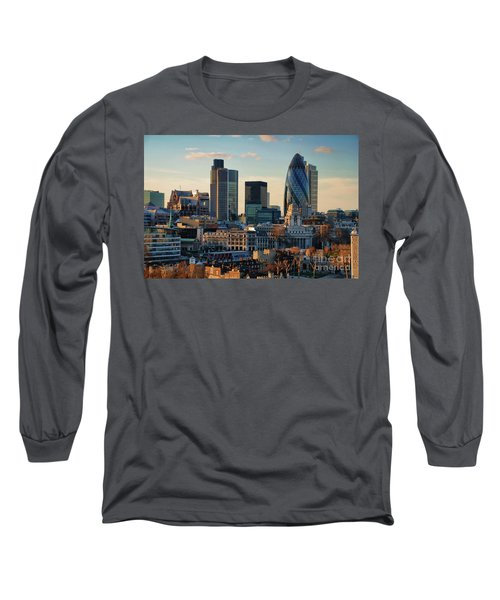 Long Sleeve T-Shirt featuring the photograph London City Of Contrasts by Lois Bryan