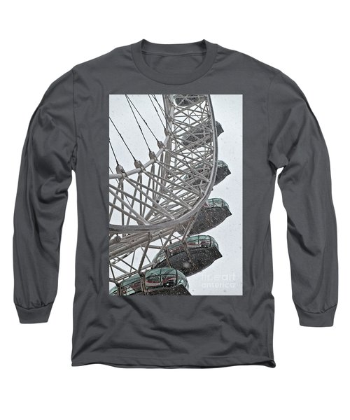 London Eye And Snow Long Sleeve T-Shirt
