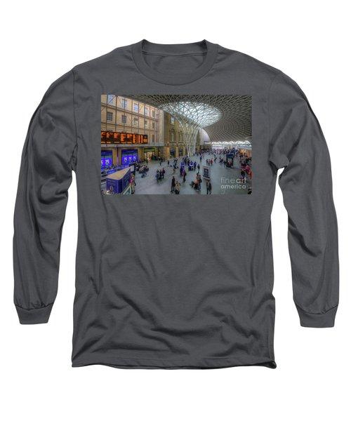 Long Sleeve T-Shirt featuring the photograph London King's Cross by Yhun Suarez