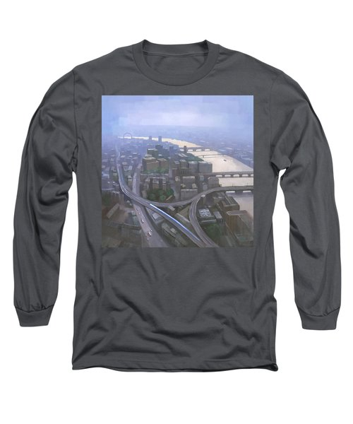 London, Looking West From The Shard Long Sleeve T-Shirt by Steve Mitchell