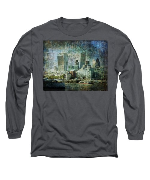 London Skyline Key Of Blue Long Sleeve T-Shirt