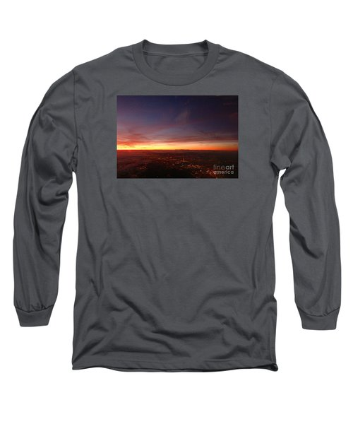 Long Sleeve T-Shirt featuring the photograph London Sunset by AmaS Art