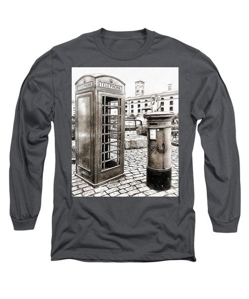 London Telephone Box And Post Box Long Sleeve T-Shirt
