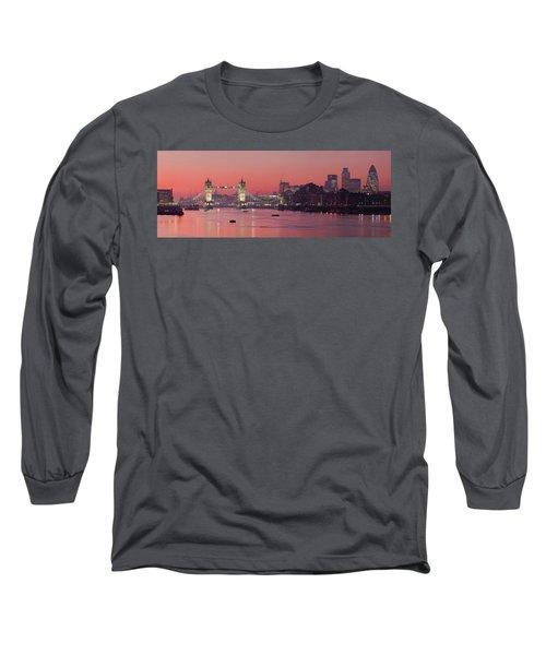 London Thames Long Sleeve T-Shirt by Thomas M Pikolin