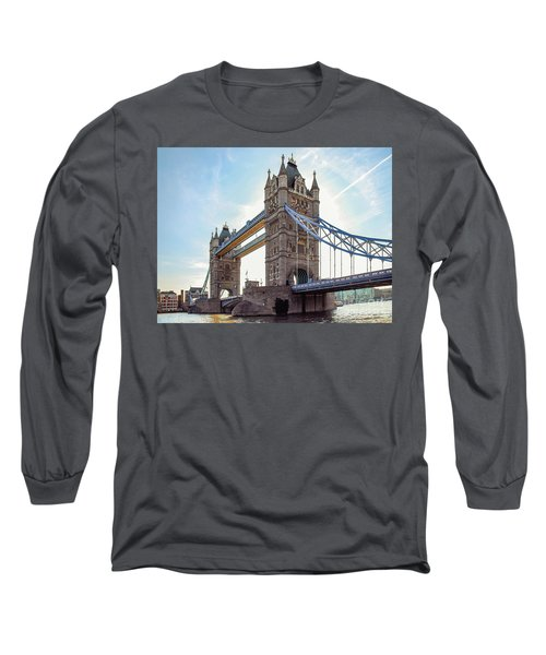 Long Sleeve T-Shirt featuring the photograph London - The Majestic Tower Bridge by Hannes Cmarits