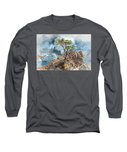 Lone Cypress In Monterey California Long Sleeve T-Shirt