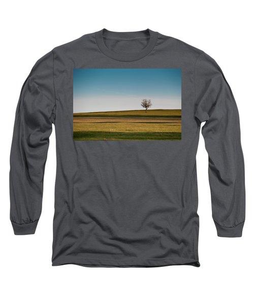 Lone Hawthorn Tree II Long Sleeve T-Shirt