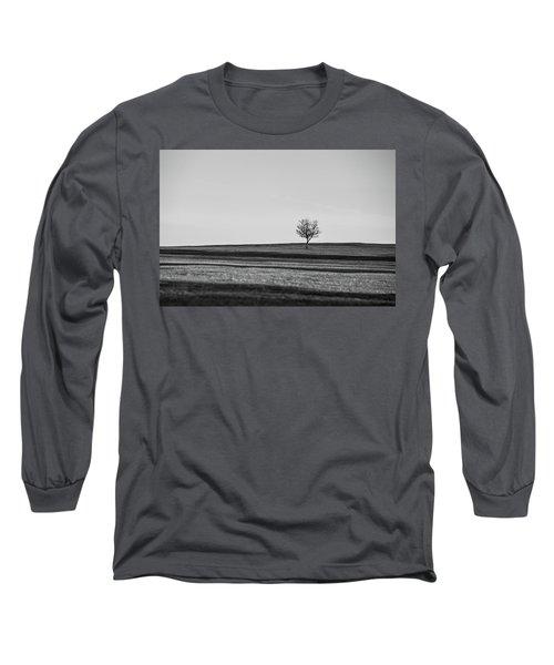 Lone Hawthorn Tree Iv Long Sleeve T-Shirt