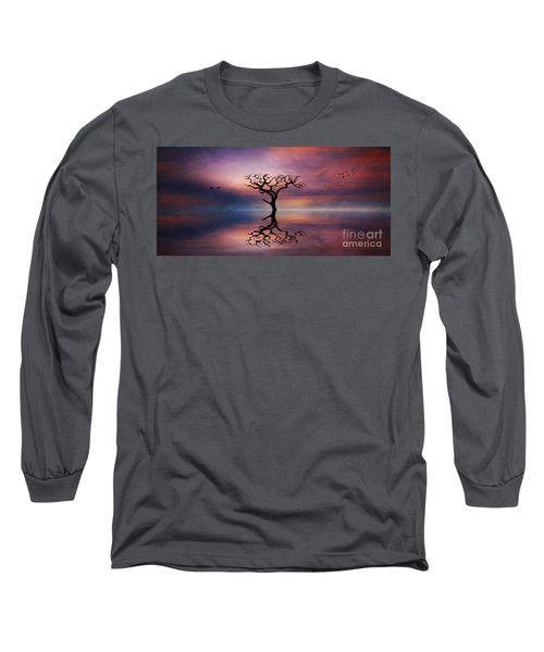 Lone Tree Sunrise Long Sleeve T-Shirt