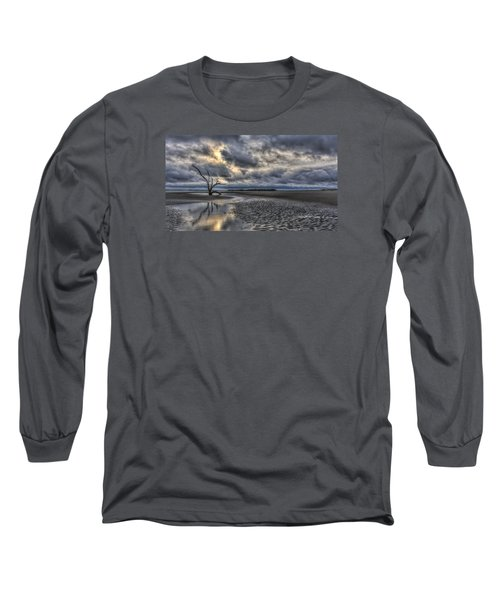 Lone Tree Under Moody Skies Long Sleeve T-Shirt