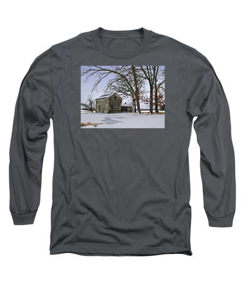 Long Sleeve T-Shirt featuring the photograph Lonely And Abandoned by Judy Johnson