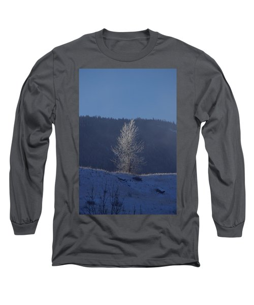 Lonely Frosty Tree Long Sleeve T-Shirt