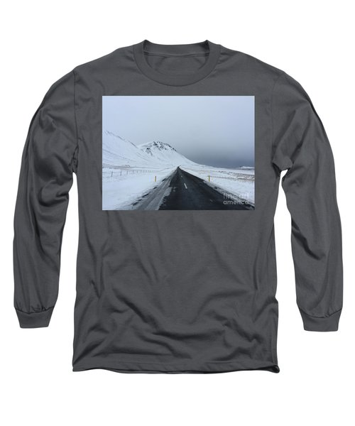 Lonely Road On Snaefellsnes Peninsula Long Sleeve T-Shirt