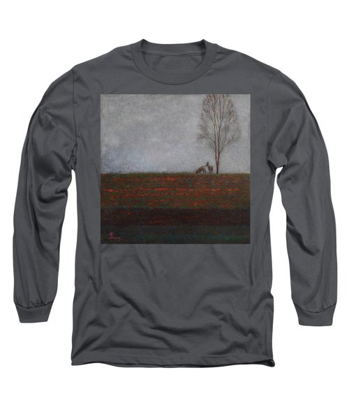 Lonely Tree With Two Roes Long Sleeve T-Shirt