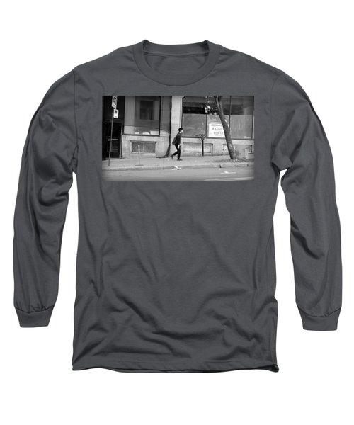 Long Sleeve T-Shirt featuring the photograph Lonely Urban Walk by Valentino Visentini