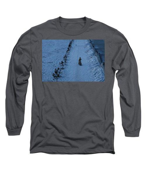 Lonely Walk/tsagaan Sar Long Sleeve T-Shirt by Diane Height