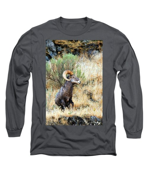 Loner Iv Long Sleeve T-Shirt by Steve Warnstaff