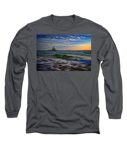Long Beach Bar Lighthouse Long Sleeve T-Shirt