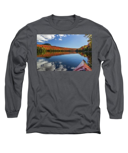 Long Pond From A Kayak Long Sleeve T-Shirt by Tim Kirchoff