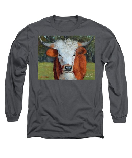 Longhorn Cow Painting II, Ms Tilly  Long Sleeve T-Shirt