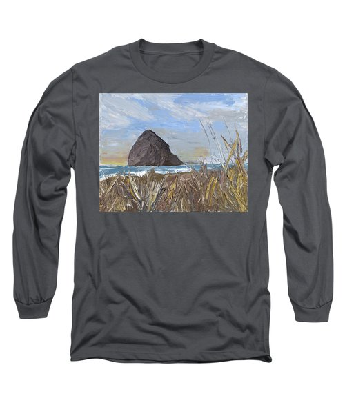 Longing For The Sounds Of Haystack Rock Long Sleeve T-Shirt