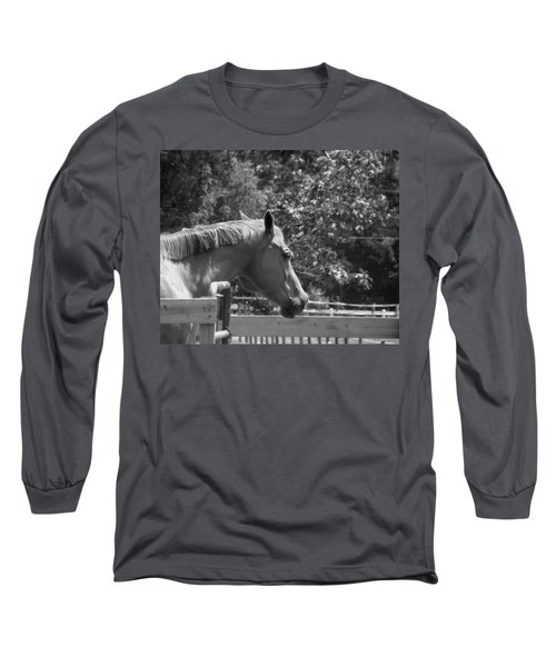 Long Sleeve T-Shirt featuring the photograph Longing by Sandi OReilly