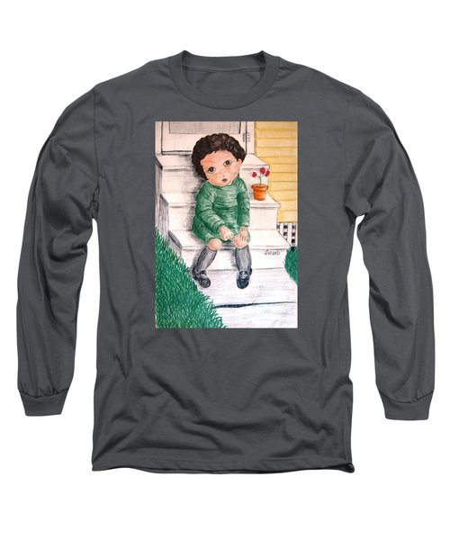 Lonley Girl On Back Step Long Sleeve T-Shirt