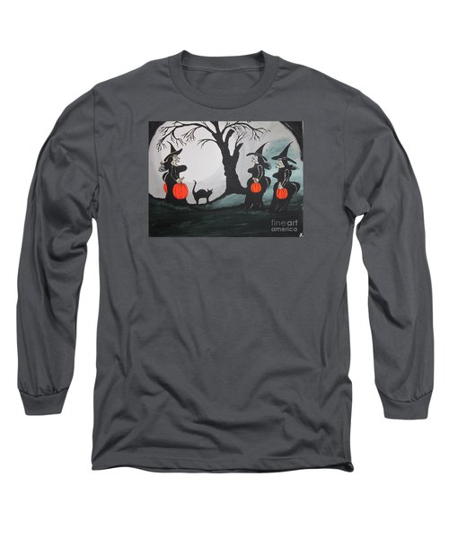 Long Sleeve T-Shirt featuring the painting Look At The Size Of Her Pumpkins by Jeffrey Koss