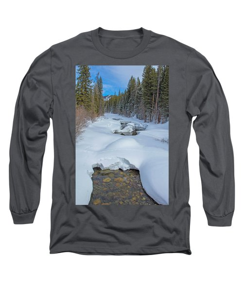 Looking Down The Elk Long Sleeve T-Shirt by Sean Allen