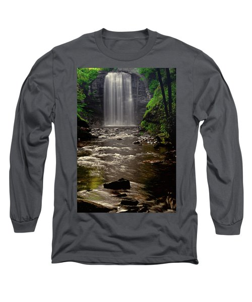 Long Sleeve T-Shirt featuring the photograph Looking Glass Falls 009 by George Bostian