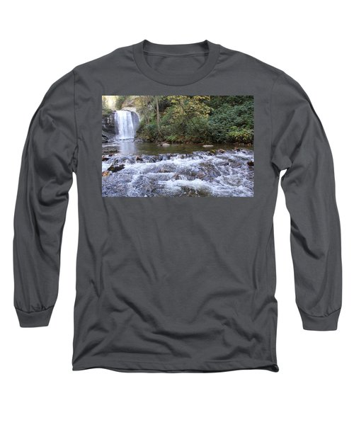 Looking Glass Falls Downstream Long Sleeve T-Shirt
