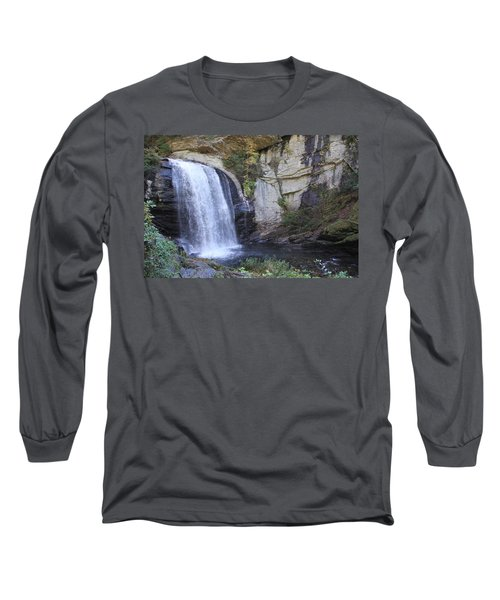 Looking Glass Falls Side View Long Sleeve T-Shirt