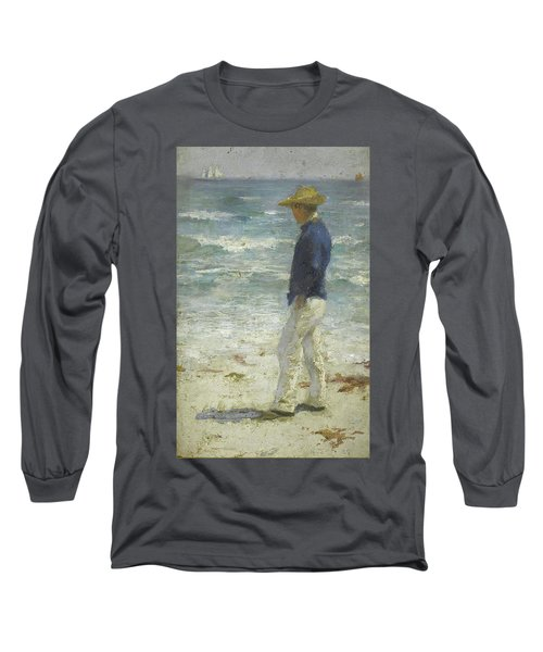 Long Sleeve T-Shirt featuring the painting Looking Out To Sea by Henry Scott Tuke
