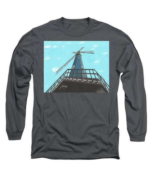 Looking Up At A Windmill Long Sleeve T-Shirt