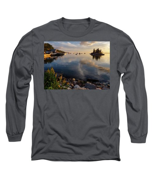 Lookout Point, Harpswell, Maine  -99044-990477 Long Sleeve T-Shirt by John Bald
