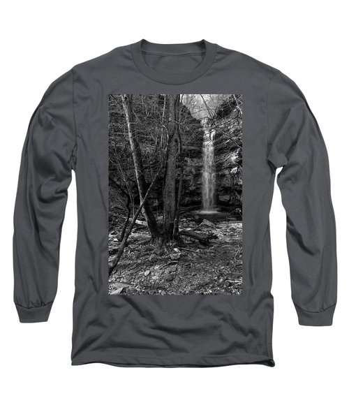 Lost Creek In Black And White Long Sleeve T-Shirt