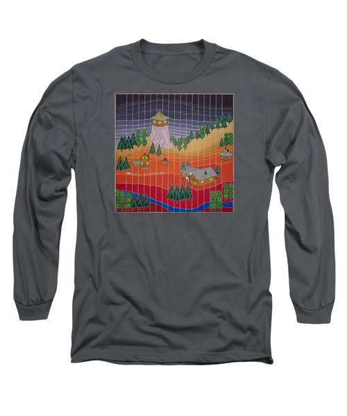 Lost Creek Lodge With Sun Temple Long Sleeve T-Shirt