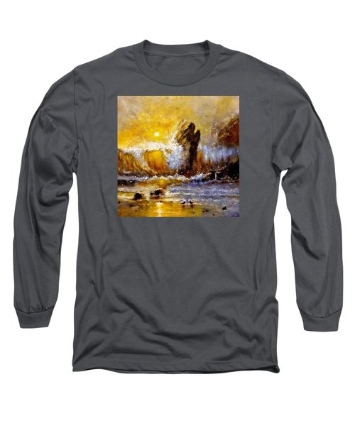 Long Sleeve T-Shirt featuring the painting Lost In A Sunset.. by Cristina Mihailescu