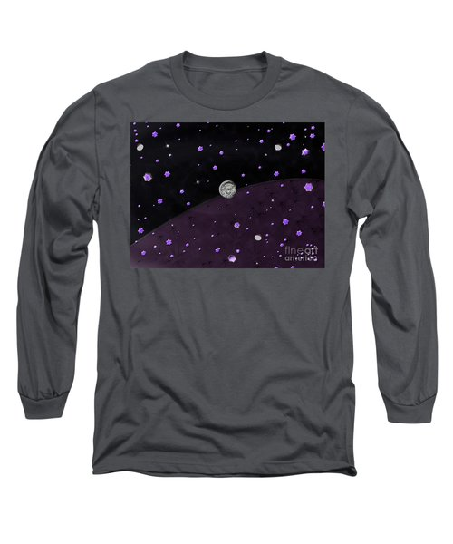 Long Sleeve T-Shirt featuring the photograph Lost In Midnight Charcoal Stars by Rockin Docks Deluxephotos