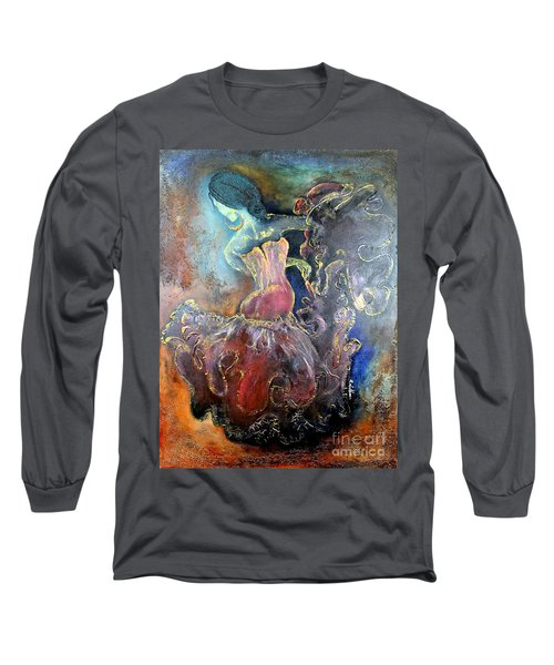 Lost In The Motion Long Sleeve T-Shirt by Farzali Babekhan