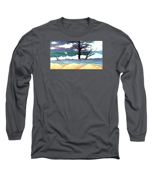 Long Sleeve T-Shirt featuring the painting Lost Swan by Patricia Griffin Brett