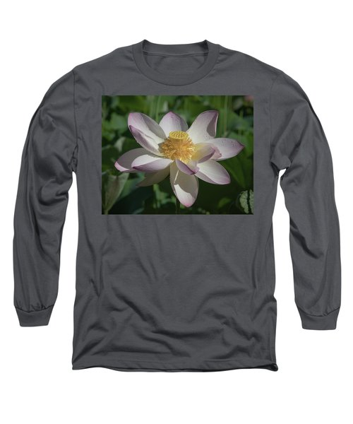 Lotus Flower In Bloom Long Sleeve T-Shirt