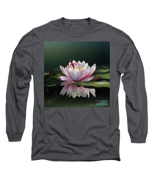 Lotus Meditation Long Sleeve T-Shirt by Rosa Cobos