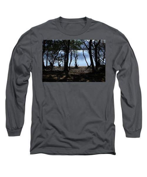 Long Sleeve T-Shirt featuring the photograph Lough Leane Through The Woods by Aidan Moran