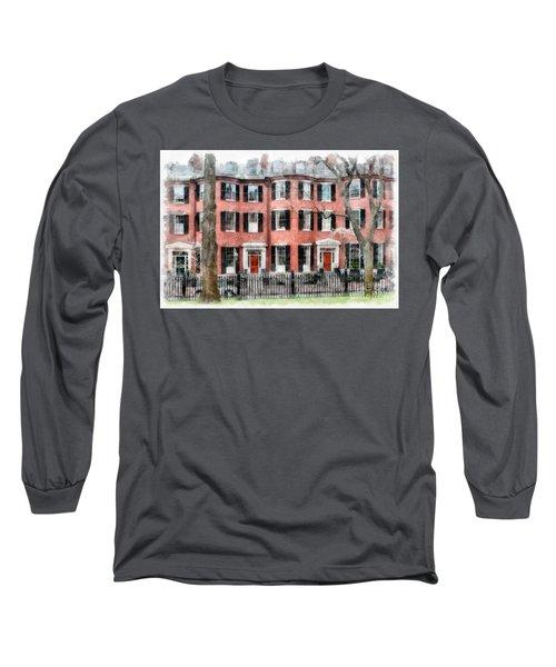 Louisburg Square Beacon Hill Boston Long Sleeve T-Shirt