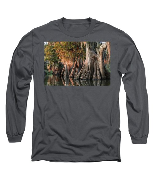 Louisiana Swamp Giant Bald Cypress Trees One Long Sleeve T-Shirt