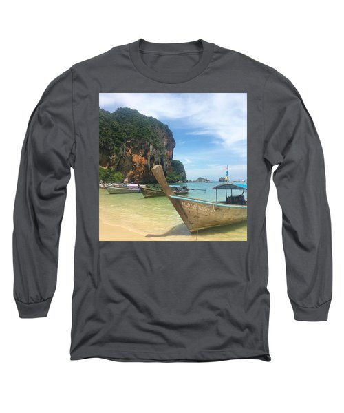Lounging Longboats Long Sleeve T-Shirt