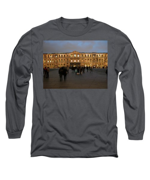Long Sleeve T-Shirt featuring the photograph Louvre Palace, Cour Carree by Mark Czerniec